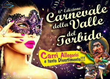 Immagine promozionale del Carnevale della Valle del Torbido organizzata dalla Pro Loco Per Gioiosa Marina e dall'associazione Borgo Antico