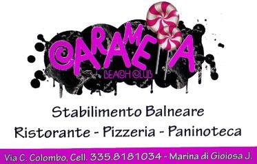 Logo Caramella Beach Club Marina di Gioiosa Ionica Pro loco Per Gioiosa Marina