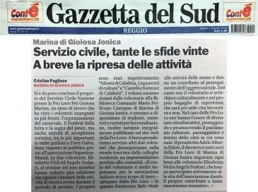 articolo-gazzetta-del-sud-servizio-civile-2017-pro-loco-per-gioiosa-marina