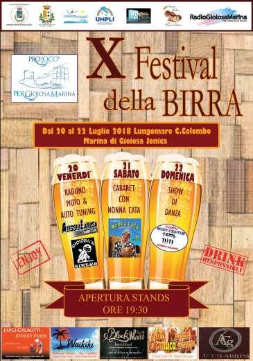 locandina festival della birra marina di gioiosa ionica pro loco per gioiosa marina reggio calabria 2018