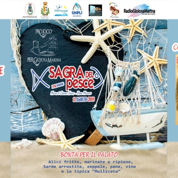 copertina sagra del pesce 2018 pro loco per gioiosa marina marina di gioiosa ionica reggio calabria