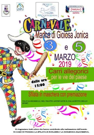Locandina carnevale 2019